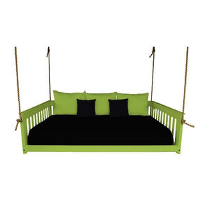 A & L Furniture VersaLoft Mission Hanging Daybed with Rope Daybed Full / Lime Green