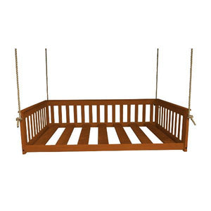 A & L Furniture VersaLoft Mission Hanging Daybed with Rope Daybed Full / Mike's Cherry