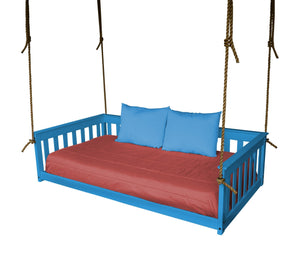 A & L Furniture VersaLoft Mission Hanging Daybed with Rope Daybed Twin / Caribbean Blue