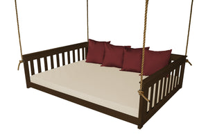 A & L Furniture VersaLoft Mission Hanging Daybed with Rope Daybed Twin / Coffee