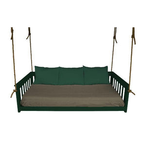 A & L Furniture VersaLoft Mission Hanging Daybed with Rope Daybed Twin / Dark Green