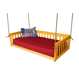 A & L Furniture VersaLoft Mission Hanging Daybed with Rope Daybed Twin / Honey
