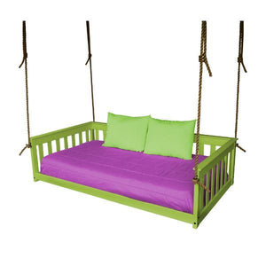 A & L Furniture VersaLoft Mission Hanging Daybed with Rope Daybed Twin / Lime Green