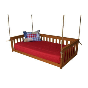 A & L Furniture VersaLoft Mission Hanging Daybed with Rope Daybed Twin / Mike's Cherry
