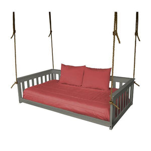 A & L Furniture VersaLoft Mission Hanging Daybed with Rope Daybed Twin / Olive Gray