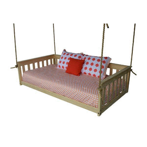 A & L Furniture VersaLoft Mission Hanging Daybed with Rope Daybed Twin / Unfinished