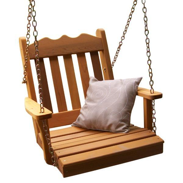 A & L Furniture Western Red Cedar 2ft Royal English Chair Swing Porch Swings Unfinished