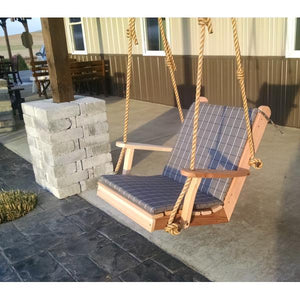 A & L Furniture Western Red Cedar 2ft Traditional English Chair Swing Porch Swings Unfinished