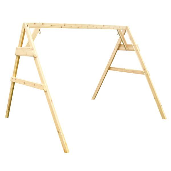 A & L Furniture Western Red Cedar 2x4 A-Frame Swing Stand for Swing or Swingbed (Hangers Included) Porch Swing Stands 4ft / Unfinished