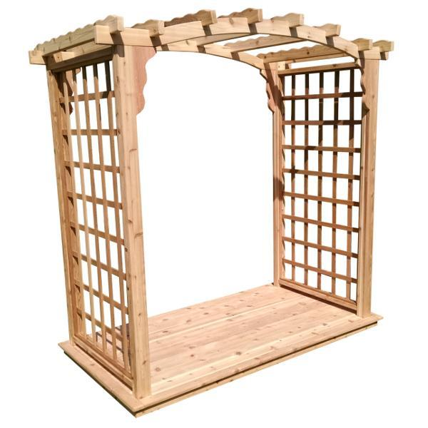 A & L Furniture Western Red Cedar Cambridge Arbor & Deck Porch Swing Stands 4ft / Unfinished