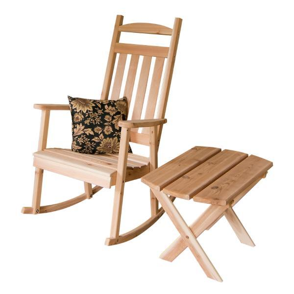 A & L Furniture Western Red Cedar Classic Porch Rocker Rocker Chair Unfinished