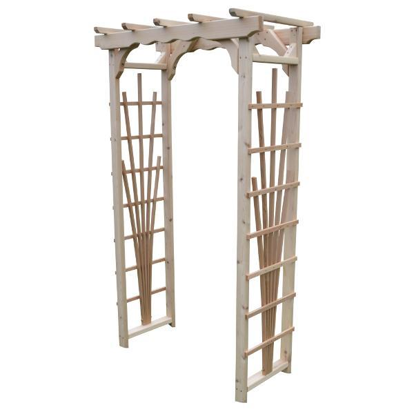 A & L Furniture Western Red Cedar Concord Arbor Porch Swing Stands 3ft / Unfinished