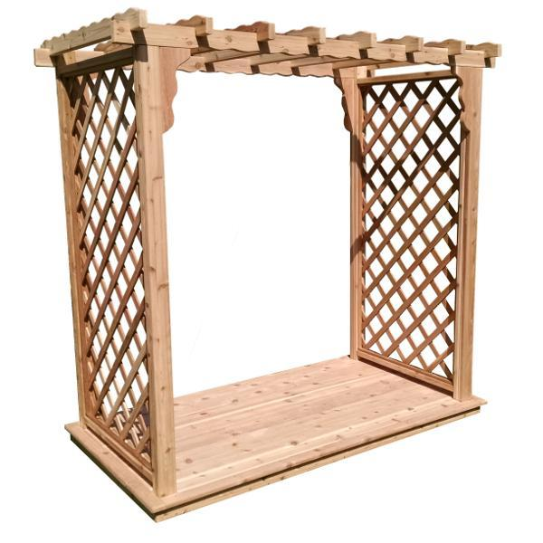A & L Furniture Western Red Cedar Covington Arbor & Deck Porch Swing Stands 4ft / Unfinished