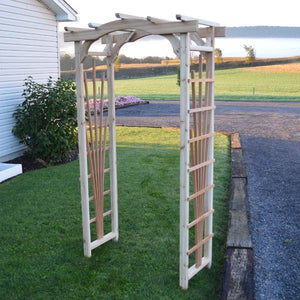 A & L Furniture Western Red Cedar Cranbrook Arbor Porch Swing Stands 3ft / Unfinished