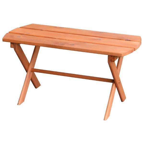 A & L Furniture Western Red Cedar Folding Coffee Table Coffee Table Unfinished