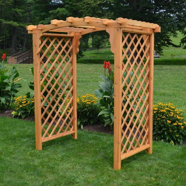 A & L Furniture Western Red Cedar Jamesport Arbor