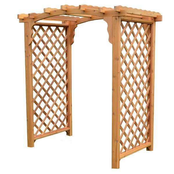 A & L Furniture Western Red Cedar Jamesport Arbor Porch Swing Stands 4ft / Unfinished