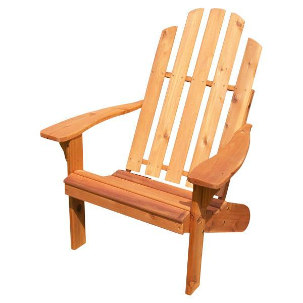 A & L Furniture Western Red Cedar Kennebunkport Adirondack Chair Adirondack Unfinished