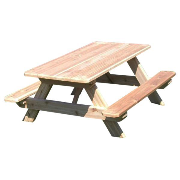 A & L Furniture Western Red Cedar Kids Picnic Table Picnic Table Unfinished / No
