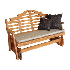 A & L Furniture Western Red Cedar Marlboro Glider Glider 4ft / Unfinished
