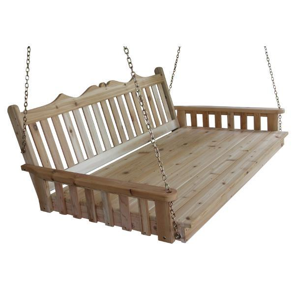 A & L Furniture Western Red Cedar Royal English Garden Swingbed Swing Beds 4ft / Unfinished