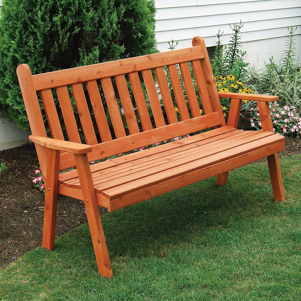 Buy The A Amp L Red Cedar Traditional English Garden Bench