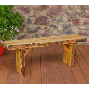 A & L Furniture Wildwood Bench Garden Benches 4ft / Natural