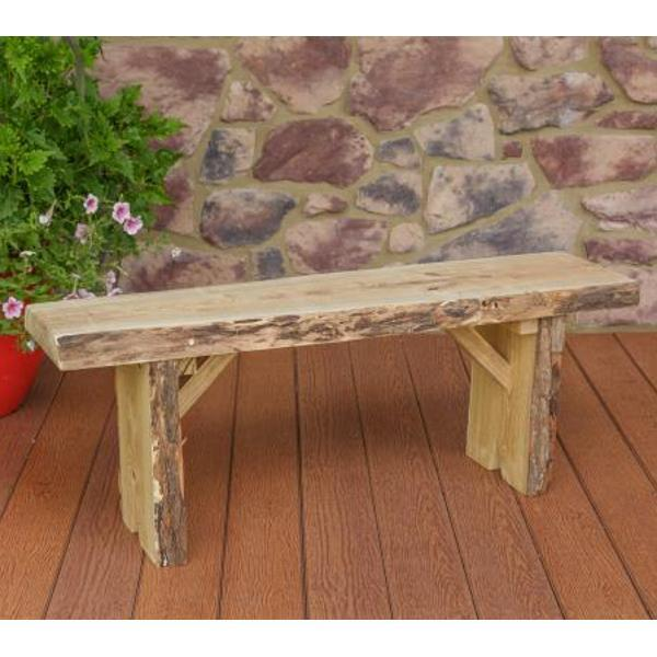 A & L Furniture Wildwood Bench Garden Benches 4ft / Unfinished