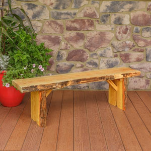 A & L Furniture Wildwood Bench Garden Benches 5ft / Natural