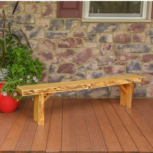 A & L Furniture Wildwood Bench Garden Benches 6ft / Natural