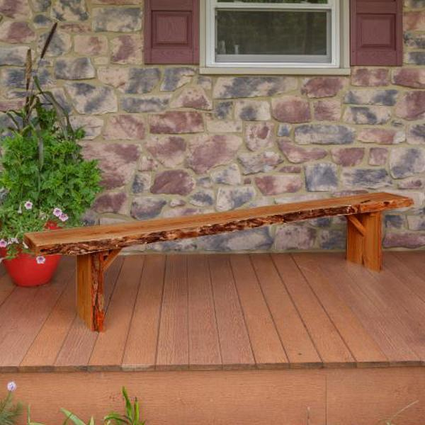 A & L Furniture Wildwood Bench Garden Benches 8ft / Cedar