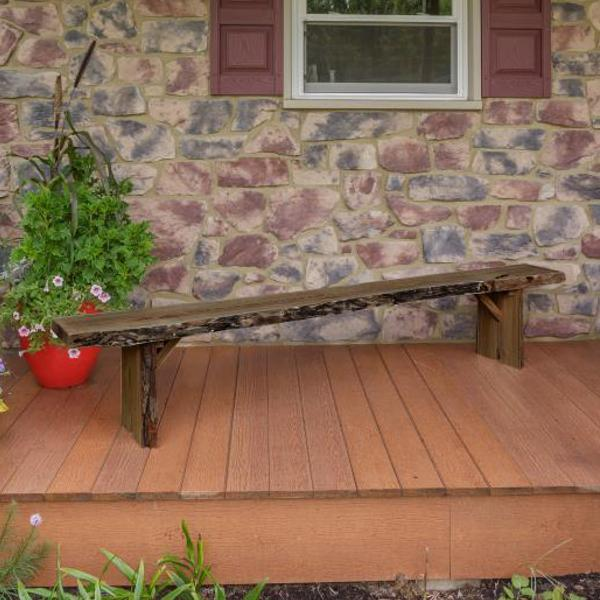 A & L Furniture Wildwood Bench Garden Benches 8ft / Mushroom
