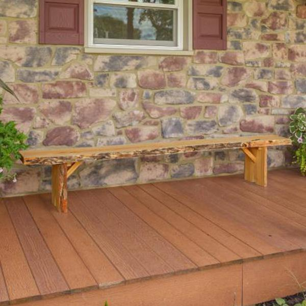 A & L Furniture Wildwood Bench Garden Benches 8ft / Natural