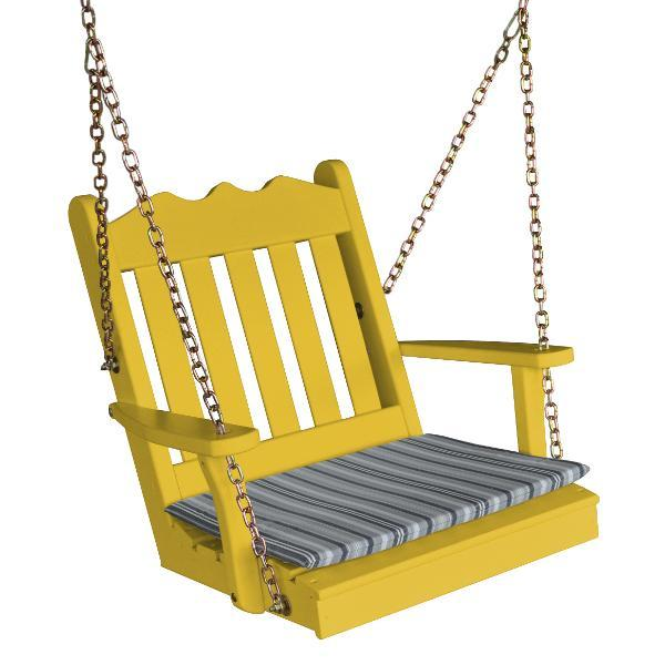 A & L Furniture Yellow Pine 2ft Royal English Chair Swing Swings Unfinished