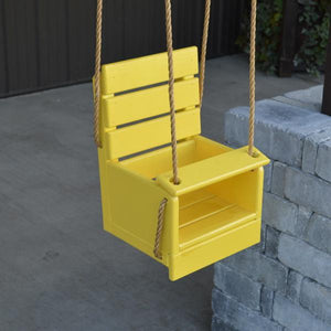 A & L Furniture Yellow Pine Classic Baby Swing (Rope Included) Swings Unfinished