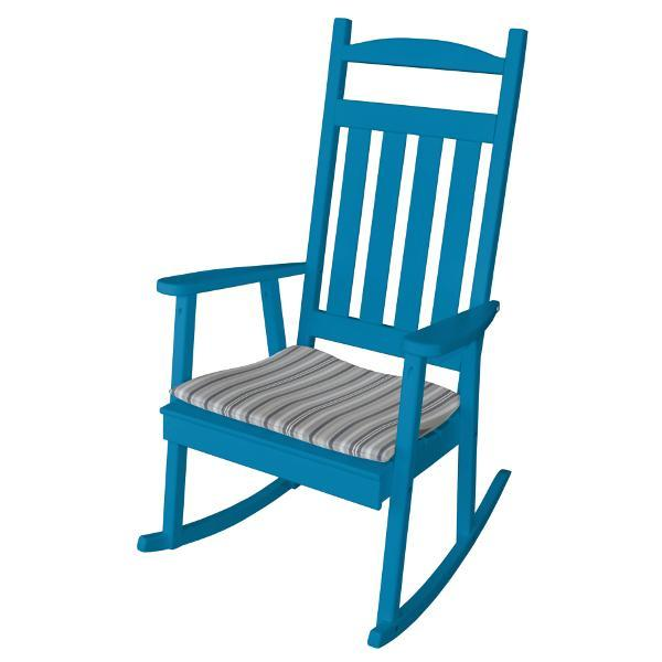A & L Furniture Yellow Pine Classic Porch Rocker Rocker Chair Unfinished