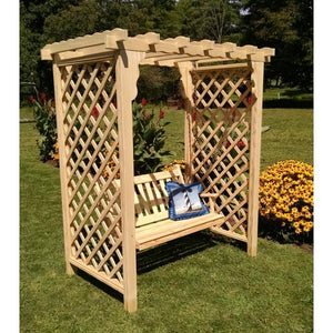 A & L Furniture Yellow Pine Covington Arbor & Swing