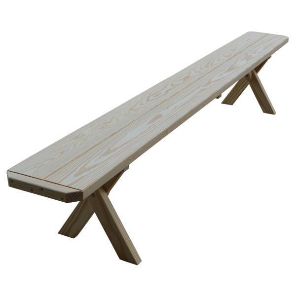 Buy The A Amp L Furniture Yellow Pine Crossleg Bench Online