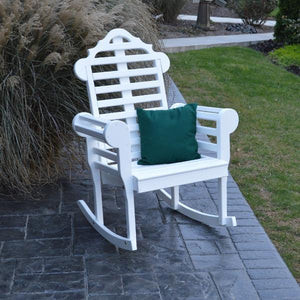 A & L Furniture Yellow Pine Marlboro Porch Rocker Rocker Chair Unfinished