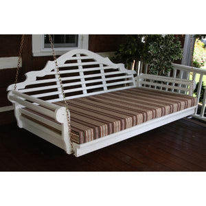"A & L Furniture Yellow Pine Marlboro Swing Bed Size 6ft and 75"" Swing Beds 6ft / Unfinished / No"