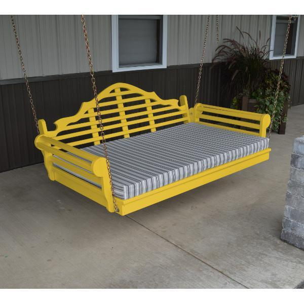 A & L Furniture Yellow Pine Marlboro Swing Bed Swing Beds 4ft / Unfinished / No