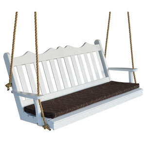 A & L Furniture Yellow Pine Royal English Garden Swing Swings 4ft / Unfinished