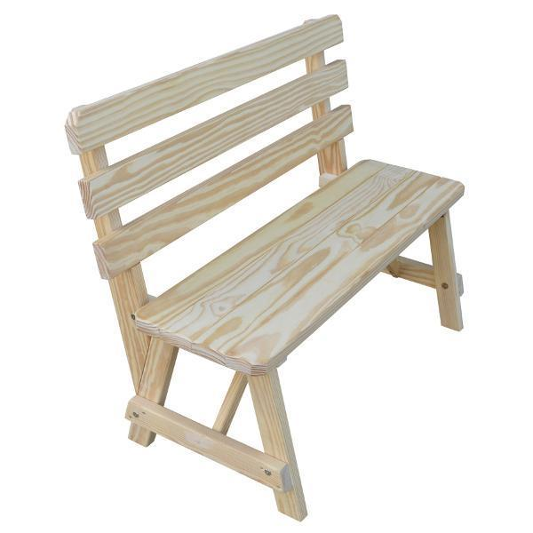 Buy The A Amp L Furniture Yellow Pine Traditional Backed