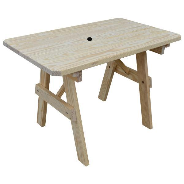 Buy The A Amp L Furniture Yellow Pine Traditional Table