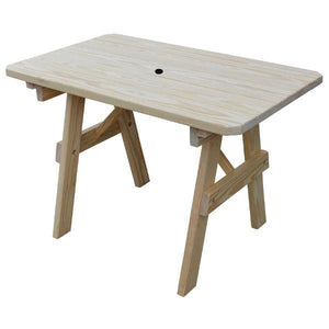 A & L Furniture Yellow Pine Traditional Table Only – Size 6ft and 8ft Table 6ft / Unfinished / No