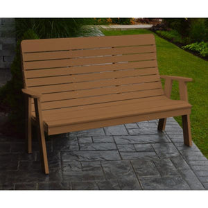 A&L Poly Color Samples Garden Bench 4ft / Cedar