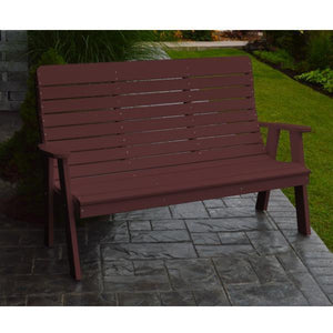 A&L Poly Color Samples Garden Bench 4ft / Cherrywood