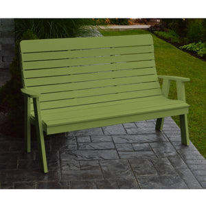 A&L Poly Color Samples Garden Bench 4ft / Tropical Lime