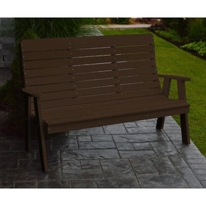 A&L Poly Color Samples Garden Bench 4ft / Tudor Brown