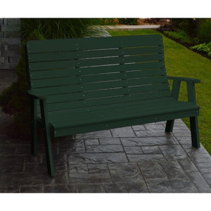 A&L Poly Color Samples Garden Bench 4ft / Turf Green